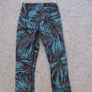 Lululemon Wunder Under Palm Tofino Pant - Sz 4